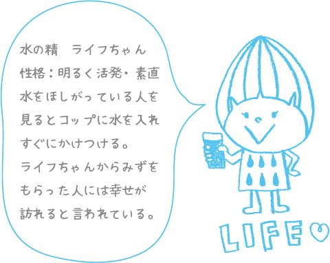 LIFE ロゴ キャラクターデザイン